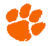 Logo for Anson High School, in Wadesboro, NC. Features an orange paw print.