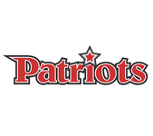 "Logo for Central Virginia Home School Athletic Organization, in Virginia. Features the word ""Patriots"" in red."