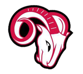 Logo for Franklinton High School in Franklinton, NC. Features a red and white ram.
