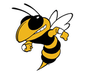 Logo for Lee Senior High School, in Sanford, NC. Features a yellow jacket insect.