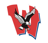 Logo for Western Harnett High School in Lillington, NC. Features a capital W behind an eagle.
