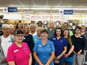 A photo of the staff members at Coopers Pharmacy in Vass, North Carolina