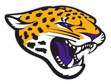 An orange jaguar bares its fangs. The logo for Carrboro High School.
